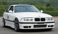 "E36 M3 Square Fitment<br />Wheels: 17x9.5"" ET35 Hyper Black ARC-8<br />Tires: 245/40-17 Hoosier<br />Mods: 15mm spacers"