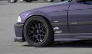 "E36 M3 Square Fitment<br />17x9"" ET42 ARC-8 wheels in Satin Black<br />245/40-17 Hoosier A7 slicks<br />15mm front spacers"