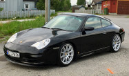 "996 Carrera 4<br />Wheels: Race Silver SM-10 18x8.5"" ET42 front, 18x11"" ET60 rear<br />Tires: Michelin PS2 225/40-18 front, 285/30-18 rear"