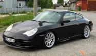 "996 Carrera 4<br />Wheels: Race Silver SM-10 18x8.5"" ET42 front, 18x11"" ET60 rear<br />Tires: Michelin PS2 225/40-18 front, 285/30-18 rear"