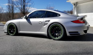"997 Turbo<br />Wheels: Satin Black SM-10 18x9"" ET46 front, 18x12"" ET45 rear<br />Tires: R888R 255/35-18 front, 315/30-18 rear"