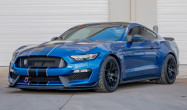 "S550 GT350 Square Fitment<br />Wheels: 19x11"" ET52 Satin Black EC-7<br />Tires: 305/30-19 Bridgestone RE-71R<br />Modifications: 25mm front spacers"