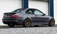 "E46 M3<br />Wheels 18x9.5"" ET35 Matte Bronze EC-7<br />Tires: 265/35-18 Hankook Ventus V12 Evo 2 tires"