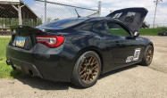"Toyota FT-86<br />Matte Bronze 17x9"" ET42 ARC-8 wheels with 245/40-17 Hoosier R7 tires"