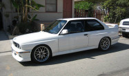 "E30 M3 Flat-Faced Square Fitment<br />Wheels: 17x8"" ET20 Hyper Black ARC-8<br />Tires: 235/40-17 Toyo RA1"