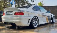 """E46 M3 Square Fitment<br />Wheels: 18x10"""" ET25 Race Silver FL-5<br />Tires: 265/35-18 Pirelli TrofeoR"""