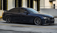 """F30 FL-5 Staggered Fitment<br>Front:<br>Anthracite 18x9"""" ET30 with 245/40-18 Hankook Ventus V12 tires<br>Rear:<br>Anthracite 18x9.5"""" ET35 with 255/40-18 Hankook Ventus V12<br>BC Racing Coilovers"""