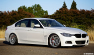 "F30 Staggered Fitment<br />Wheels: Brushed Clear APEX EC-7R 18x8.5"" ET35 front, 18x9.5"" ET45 rear"