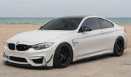 "F82 M4 Staggered Fitment<br />Wheels: Satin Black FL-5 18x10"" ET25 front, 18x11"" ET44 rear<br />Tires: Nitto NT555 275/35-18 front, 305/35-18 rear"