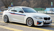 """F87 M2<br />Wheels: 18x9.5"""" ET35 Race Silver EC-7<br />Tires: 265/35-18 Nexen SUR4G"""