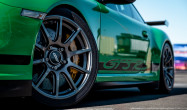 """GT3 RS<br />Front: Anthracite 18×9"""" ET46 SM-10 with 255/35-18 Toyo R888 tires<br />Rear: Anthracite 18×12"""" ET45 SM-10 with 315/30-18 Toyo R888 tires"""