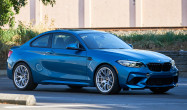 "2019 BMW M2 Competition Staggered Fitment<br />Wheels: Race Silver EC-7 19x9.5"" ET28 front, 19x10.5"" ET45 rear<br />Tires: Toyo R888 265/30-19 front, 295/30-19 rear"