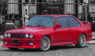 "E30 M3 Staggered Fitment<br />Wheels: Hyper Silver ARC-8 17x8"" ET20 front, 17x8.5"" ET20 rear"