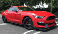 "S550 GT350 Square Fitment<br />Wheels: 19x11"" ET52 Satin Black EC-7<br />Tires: 305/30-19 Michelin Pilot Sport Cup 2<br />Mods: 25mm front spacers"
