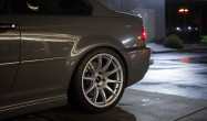 E46 M3 with Race Silver SM-10 Wheels