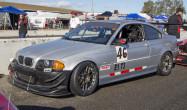"""Spec E46 Square Fitment<br />17x9"""" ET42 ARC-8 wheels in Anthracite<br />255/40-17 Bridgestone Potenza RE-71R tires"""