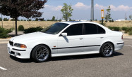 "E39 Square Fitment<br />Wheels: 18x9.5"" ET22 Hyper Black ARC-8<br />Tires: 275/35-18 Kuhmo Ecsta PS31<br />Mods: 5mm front spacers"