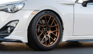 "18"" Square Fitment<br />Wheels: 18x9.5"" ET40 Satin Bronze EC-7R<br />Tires: 265/35-18 Michelin Pilot Sport 4S"