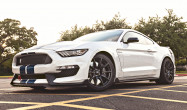 "S550 GT350 Square Fitment<br />Wheels: 19x11"" ET52 Satin Black SM-10<br />Tires: 305/30-19 Bridgestone RE-71R<br />Mods: 25mm front spacer"