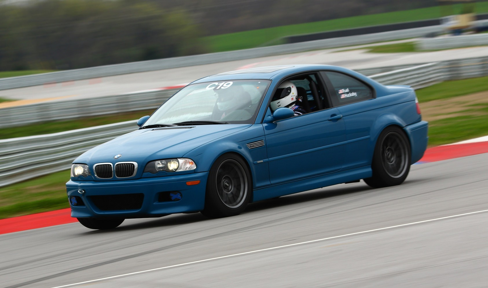 "E46 M3 Square Fitment<br />17x9.5"" ET35 ARC-8 wheels in Anthracite<br />275/40-17 Nitto NT05 tires"