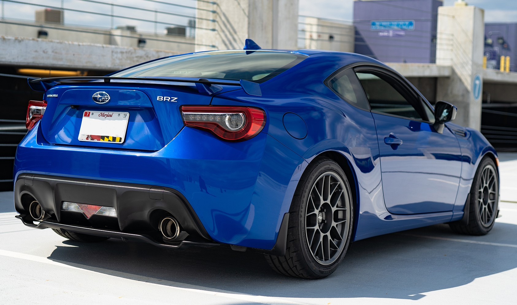 "Subaru BRZ Performance Package with Brembo Brake Kit<br />Anthracite 17x9"" ET42 ARC-8 wheels with 245/40-17 Firestone Firehawk Indy 500 tires<br />Suspension: Tein Coilovers"