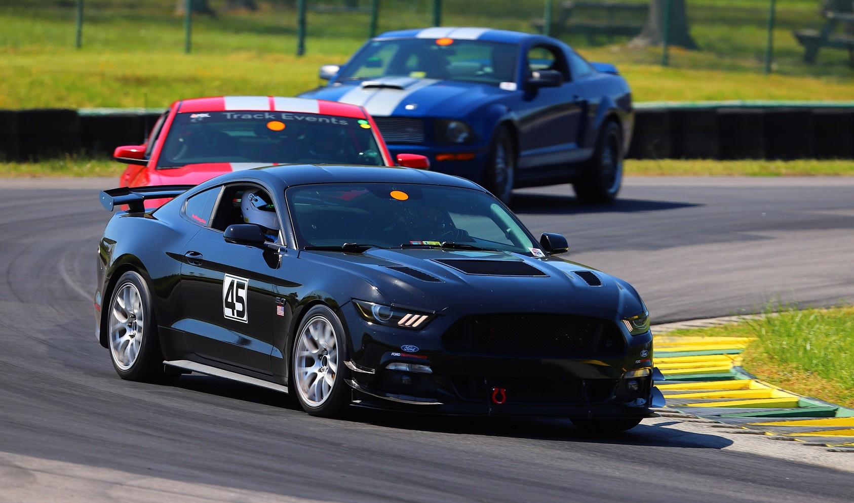 "S550 Square Fitment<br />Wheels: 18x10"" ET43 Race Silver EC-7<br />Tires: 285 Hankook RS4"