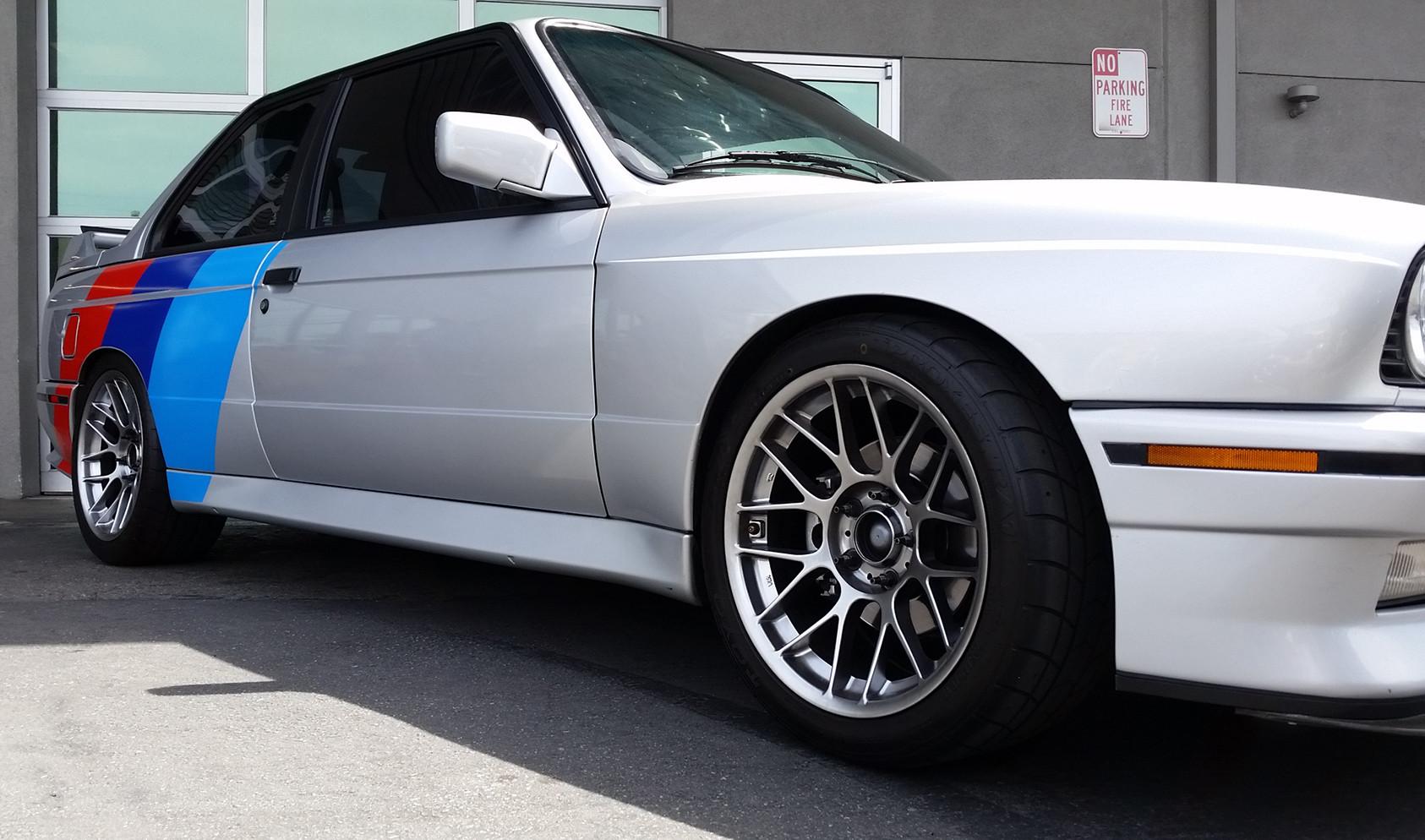 """E30 M3 Concave-Faced Square Fitment<br />Wheels: 17x8.5"""" ET20 Hyper Black ARC-8"""
