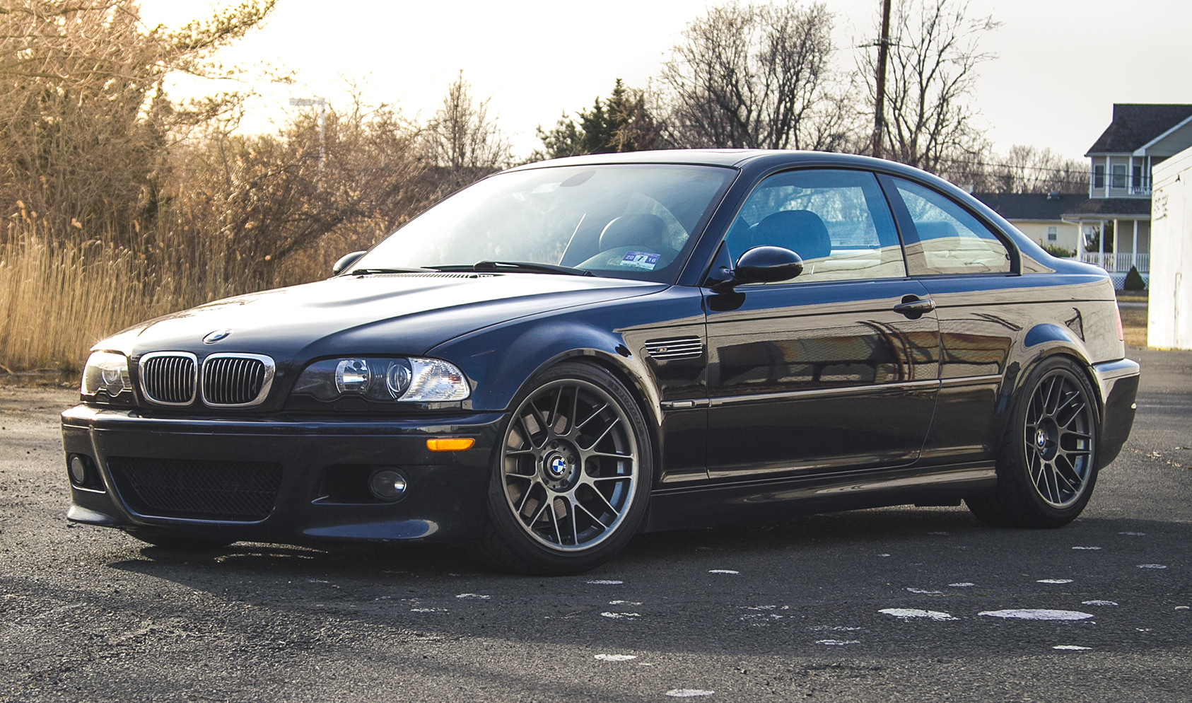 "E46 M3<br />Wheels: Anthracite ARC-8 18x9.5"" ET35 front, 18x10"" ET25 rear<br />Tires: Dunlop Direzza Starspec ZII 245/40-18 front, 275/35-18 rear"