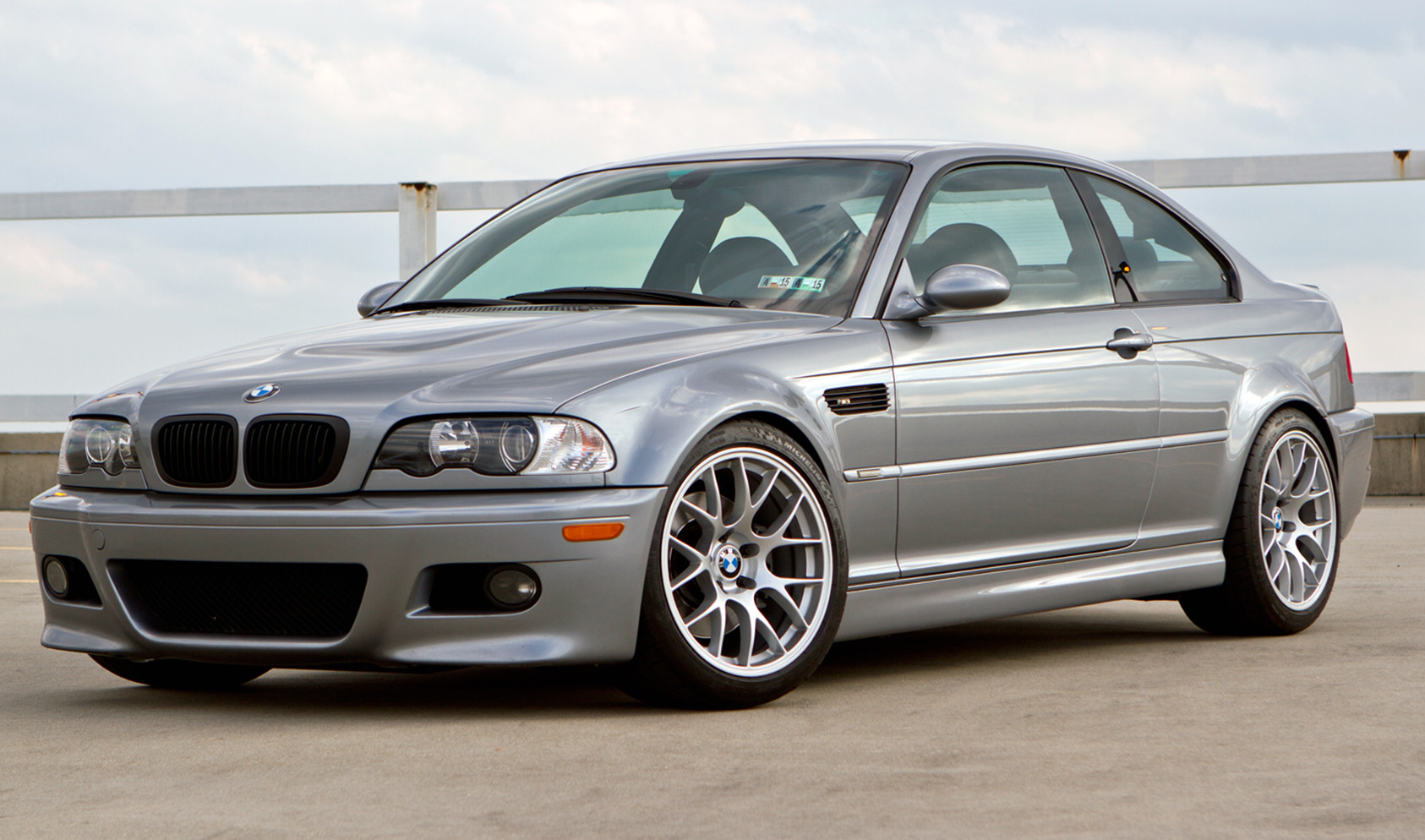 "E46 M3<br />Wheels: 18x10"" ET33 Race Silver EC-7<br />Tires: 265/35-18 Michelin Pilot Super Sport<br />Mods: 12mm front spacers, 15mm rear spacers"