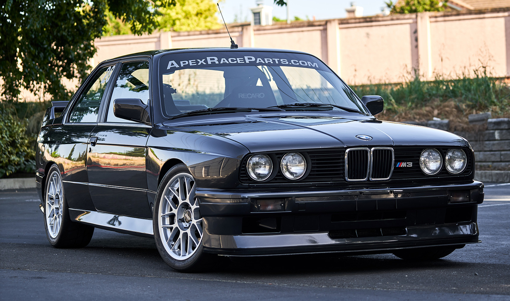 """E30 M3 Flat-Faced Square Fitment<br />Wheels: 17x8"""" ET20 Hyper Silver ARC-8<br />Tires: 235/40-17 Nitto NT01"""