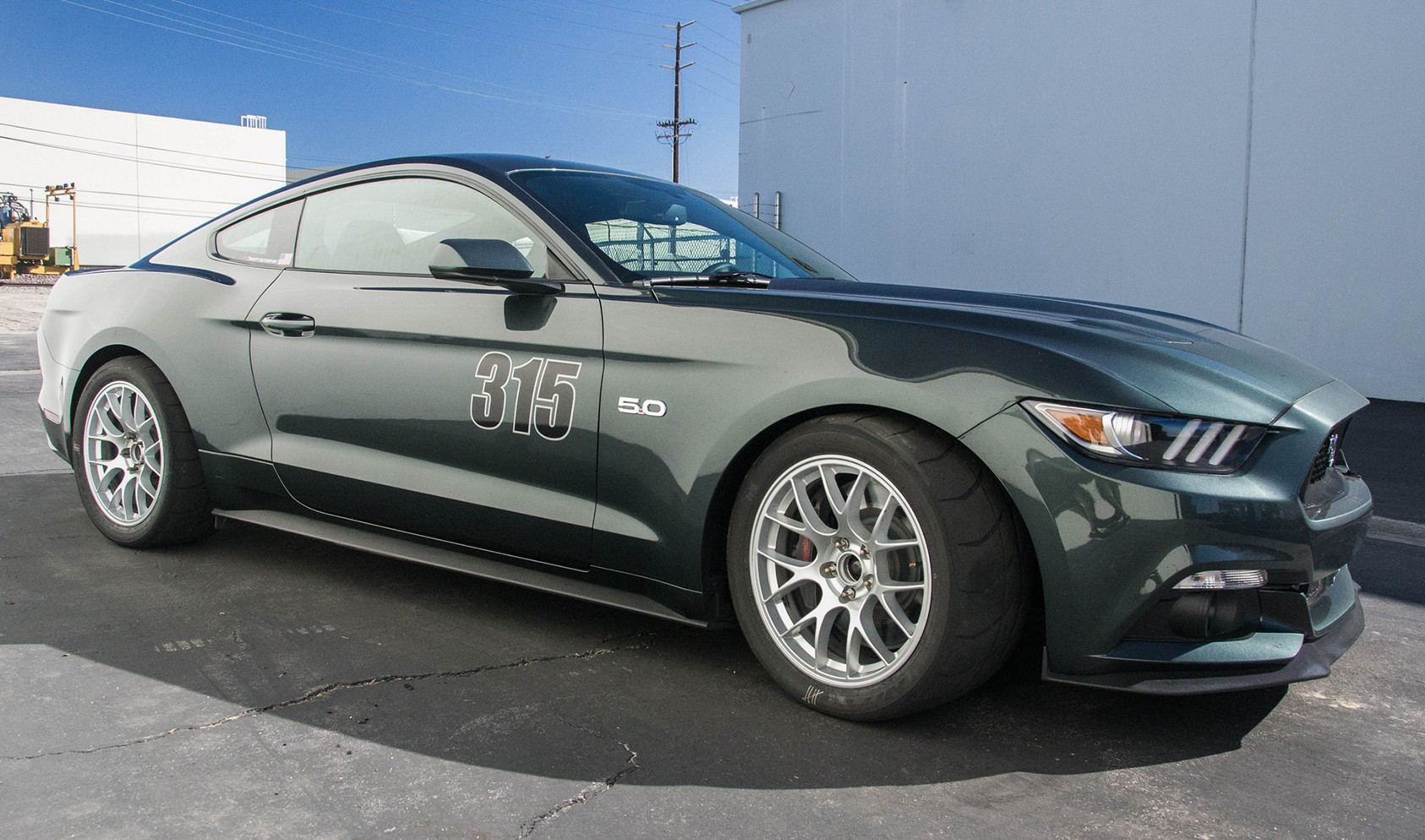 """S550 Square Fitment<br />Wheels: 18x10"""" ET43 Race Silver EC-7<br />Tires: 305/35-18 Nitto NT01"""