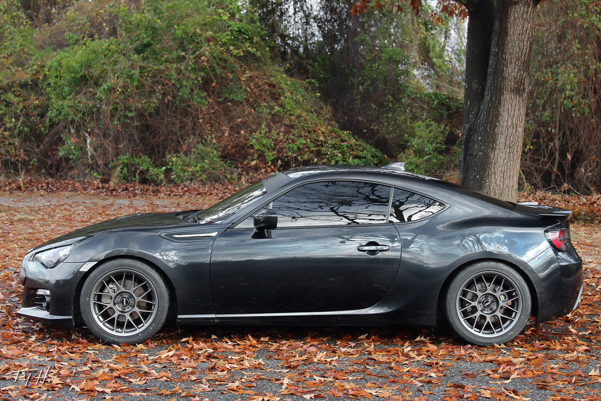 "Subaru BRZ<br />Anthracite 17x9"" ET42 ARC-8 wheels with 255/40-17 Firestone Firehawk tires"