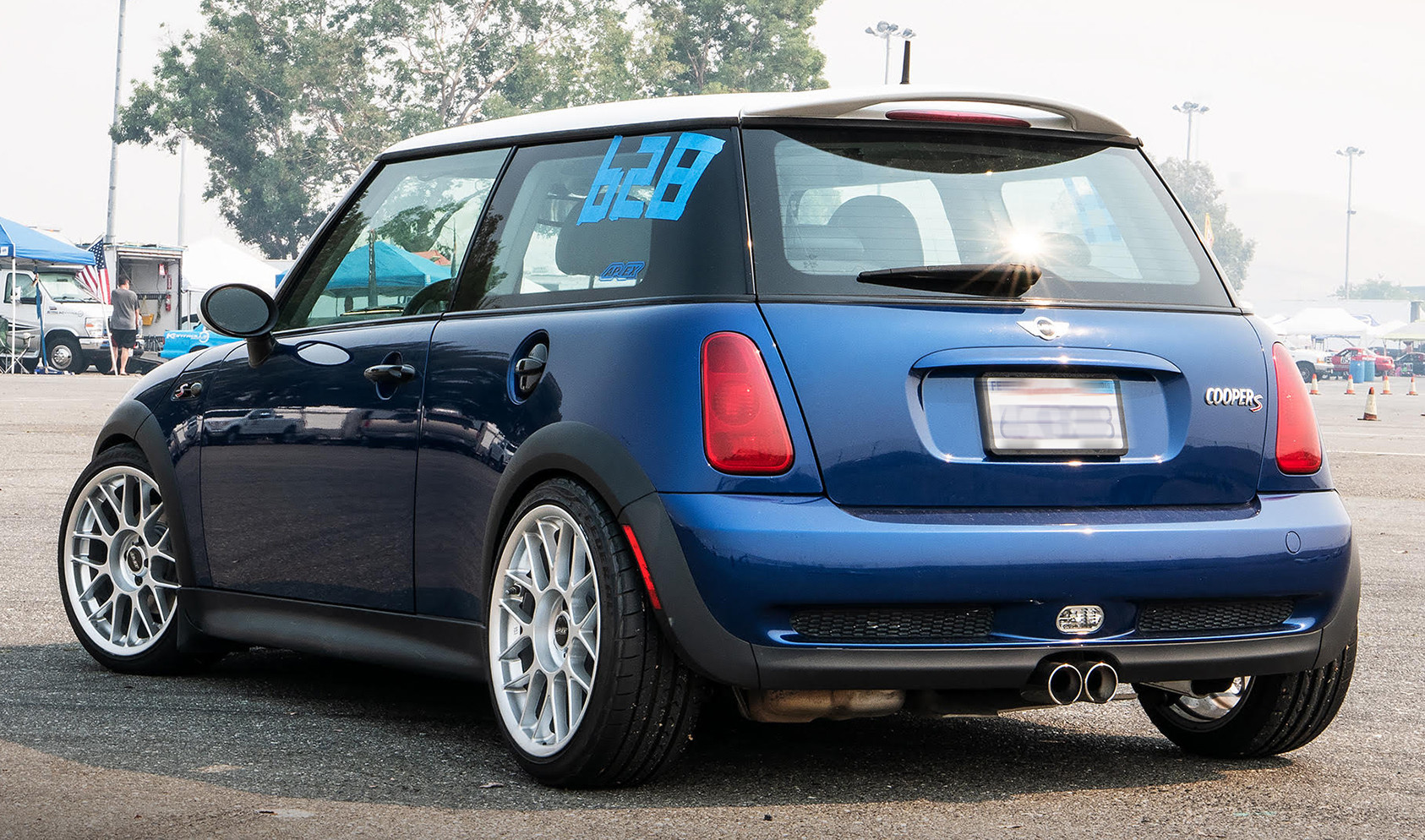 "Mini Copper<br />Wheels: 17x8"" ET25 Hyper Silver ARC-8<br />Tires: 205/40-17 Federal Evoluzion ST-1"