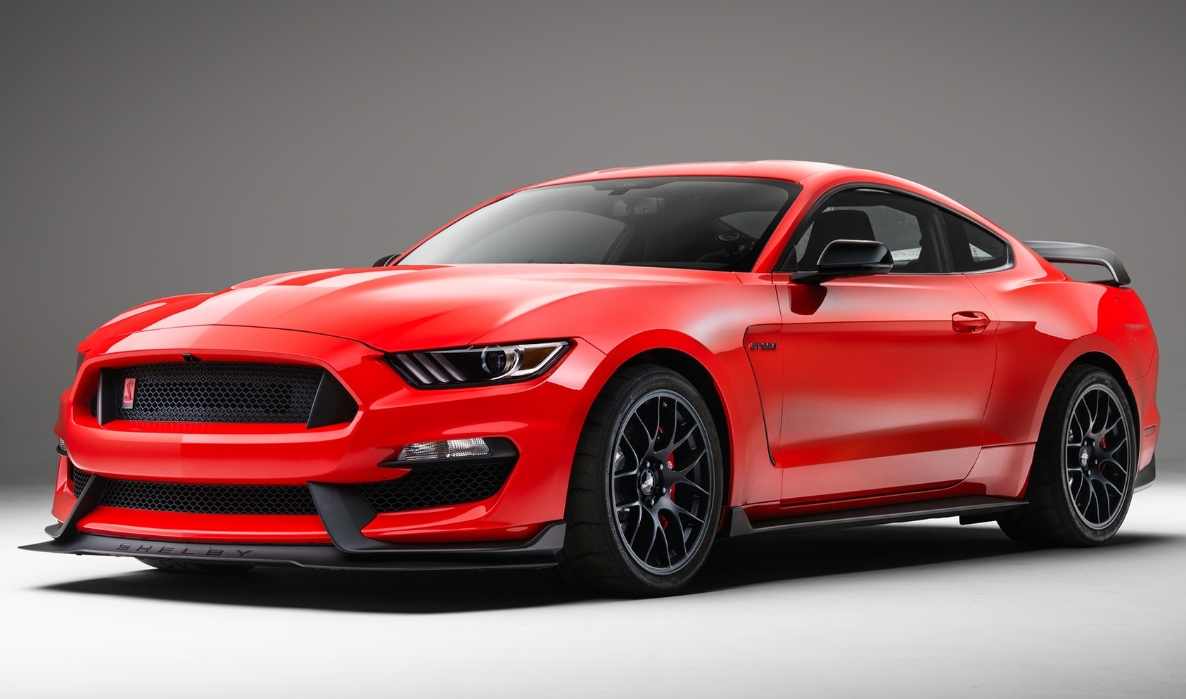 """S550 GT350R Square Fitment<br />Wheels: 19x11"""" ET52 Satin Black EC-7<br />Tires: 305/30-19 Nitto NT01<br />Mods: 25mm front spacers"""